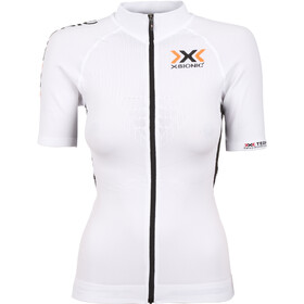 X-Bionic The Trick Biking Jersey SS Full-Zip Women, white/black